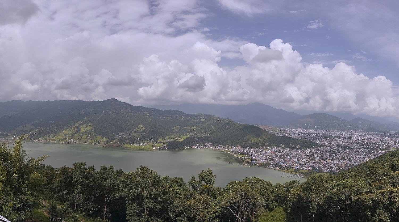 pokhara from shanti stupa