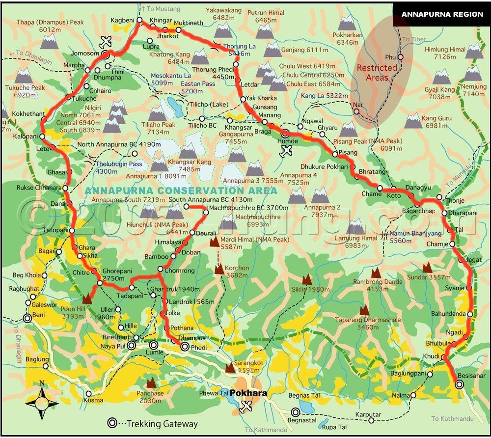 nepal_annapurna_map